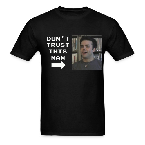 do not trust pat shirt white letters - Men's T-Shirt
