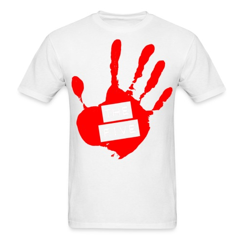 the five logo red on transparent brigh - Men's T-Shirt