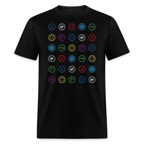HeroClix Symbols Color - Men's T-Shirt