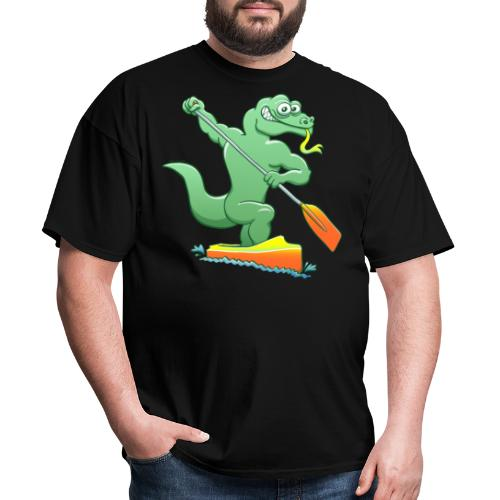Water Monitor Competing in a Canoe Sprint Event - Men's T-Shirt