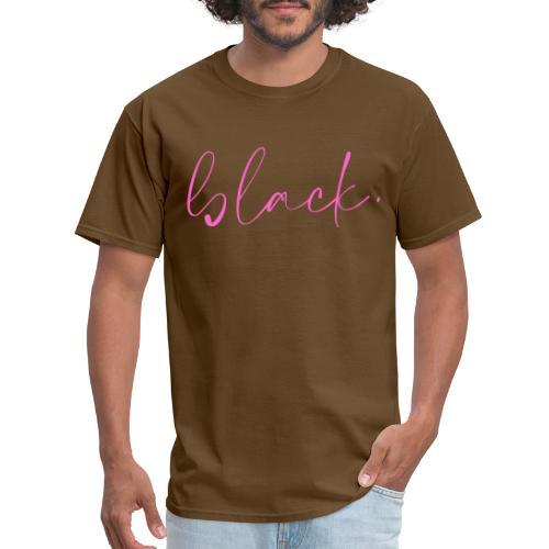black tee pink2 - Men's T-Shirt