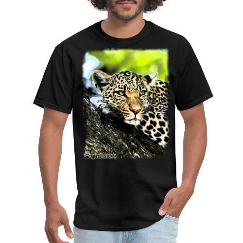 Leopard On A Tree - Men's T-Shirt