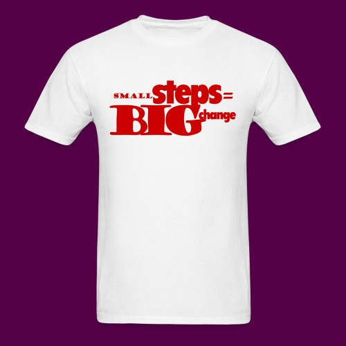small steps red - Men's T-Shirt