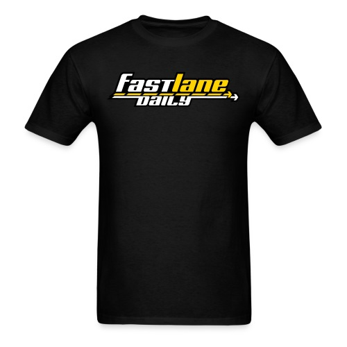Fast Lane Daily logo in 3 colors! - Men's T-Shirt