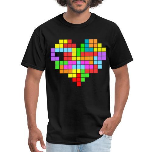 tetris heart - Men's T-Shirt