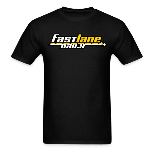 Fast Lane Daily logo in 3 colors! - Men's T-Shirt