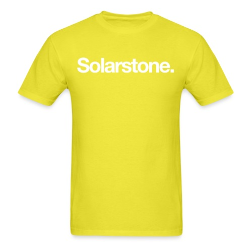 Solarstone Logo White - Men's T-Shirt