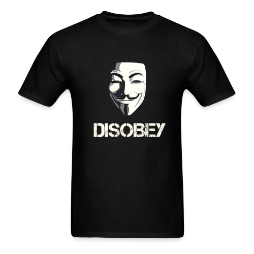 Anonymous Disobey gif - Men's T-Shirt