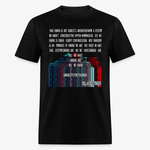 ERROR Lyrics - Men's T-Shirt