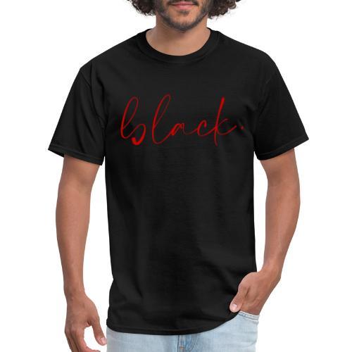 black tee red2 - Men's T-Shirt