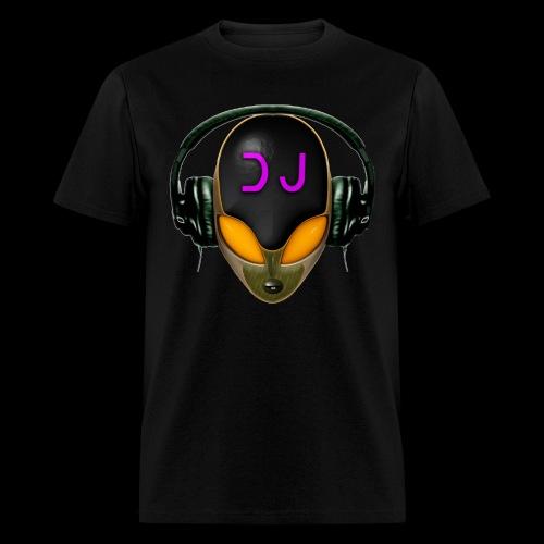 Alien DJ - Orange - Hard Shell Bug - Men's T-Shirt