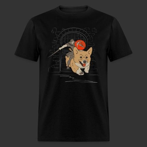A Corgi Knight charges into battle - Men's T-Shirt