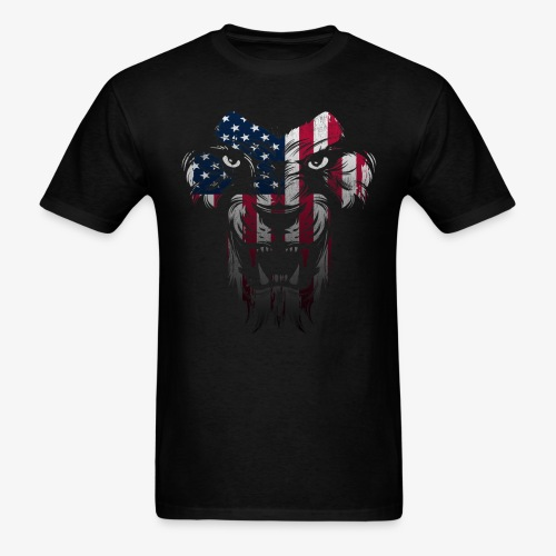 American Flag Lion Shirt - Men's T-Shirt