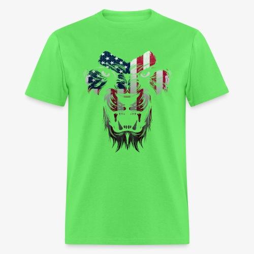 American Flag Lion Shirt - Men's T-Shirt