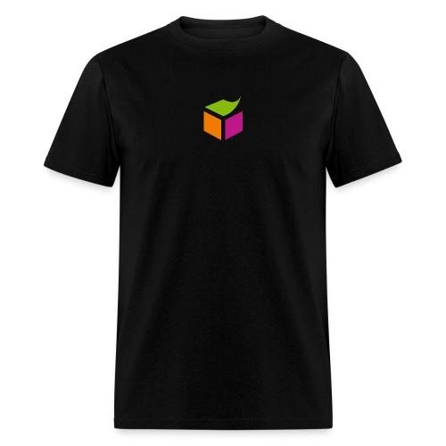 Semantic Web Cube orange green pink - Men's T-Shirt