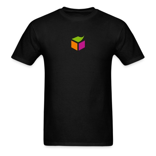 Semantic Web Cube orange green pink - Men's T-Shirt