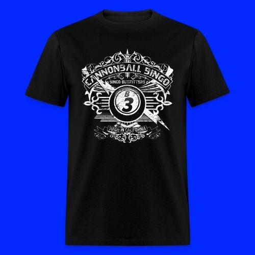Vintage Cannonball Bingo Crest White - Men's T-Shirt