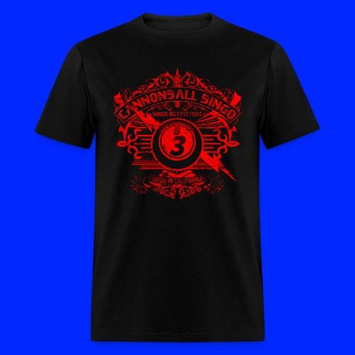 Vintage Cannonball Bingo Crest Red - Men's T-Shirt