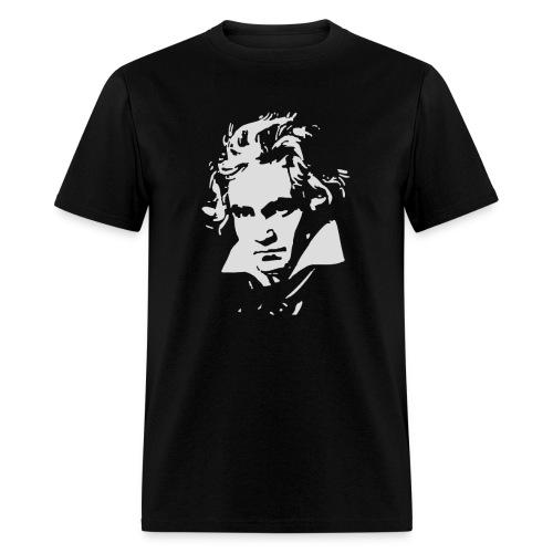 Ludvig Van Beethoven negative for dark shirts - Men's T-Shirt