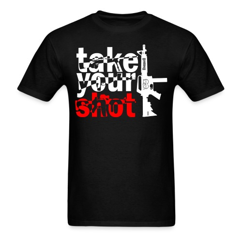 take your shot white and red - Men's T-Shirt