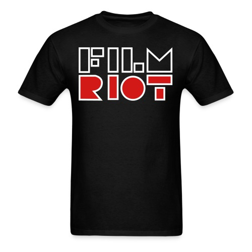 vertical FilmRiot logo space - Men's T-Shirt