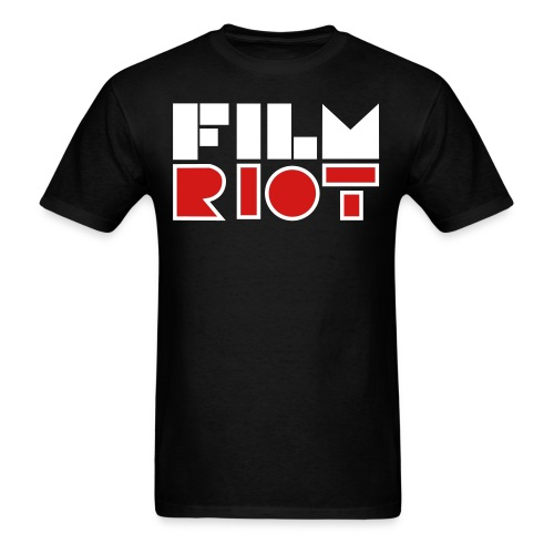 vertical FilmRiot logo space solid - Men's T-Shirt