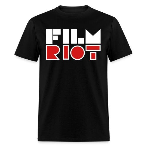vertical FilmRiot logo space solid - Men's T-Shirt