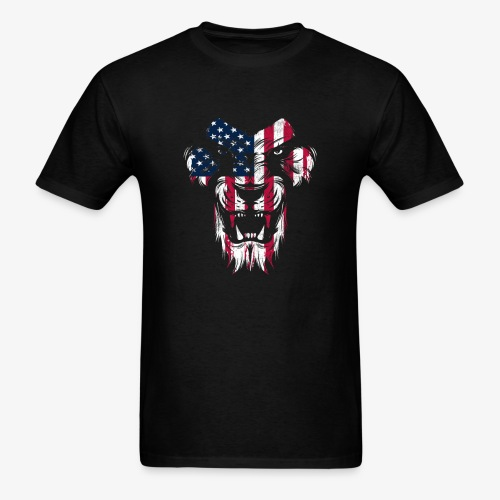 Lovely American Lion USA Flag Silhouette Portrait - Men's T-Shirt