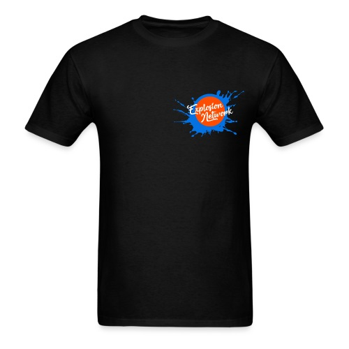 Black Explosion Network Pocket Tee - Men's T-Shirt