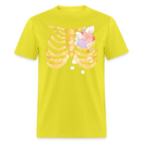 Pastel Goth Gold Rib Cage Shirt - Men's T-Shirt