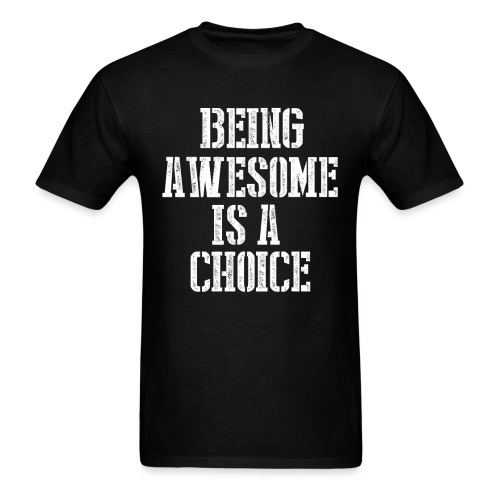 awesome 4 png - Men's T-Shirt