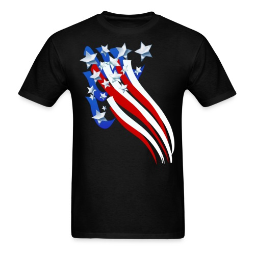 Sweeping Old Glory - Men's T-Shirt