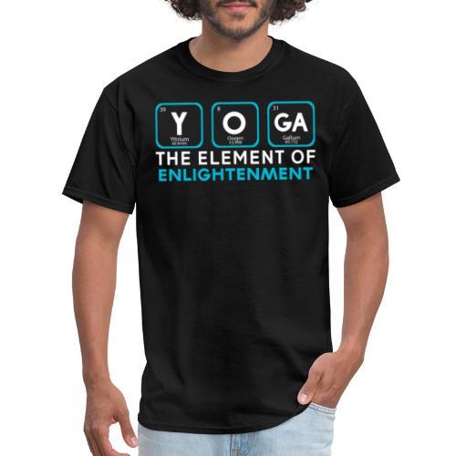 Yoga the Element of Enlightenment - Men's T-Shirt