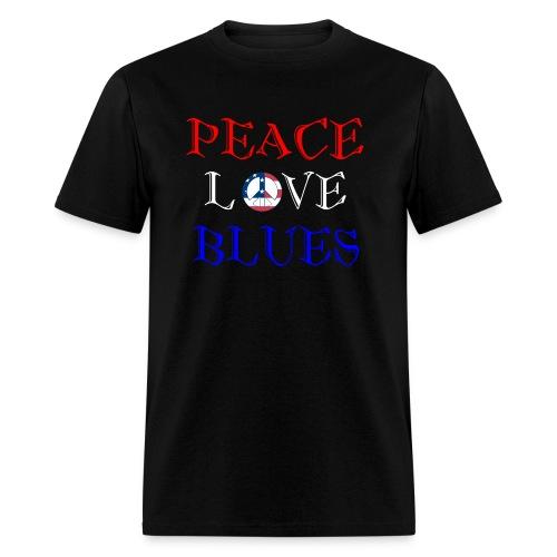 Peace, Love and Blues - Men's T-Shirt