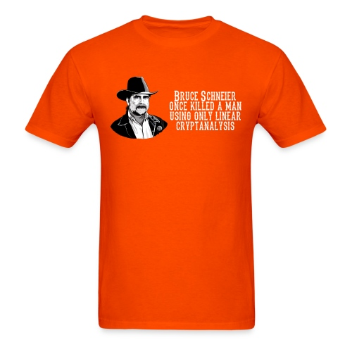 schneier1 cowboy white - Men's T-Shirt