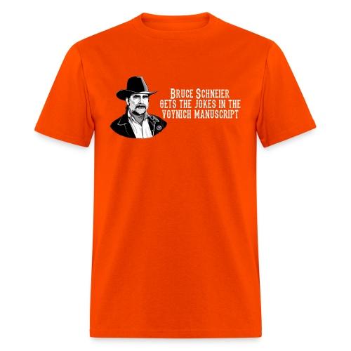 schneier4 cowboy white - Men's T-Shirt