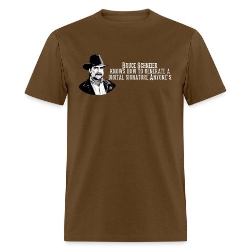 schneier8 cowboy white - Men's T-Shirt