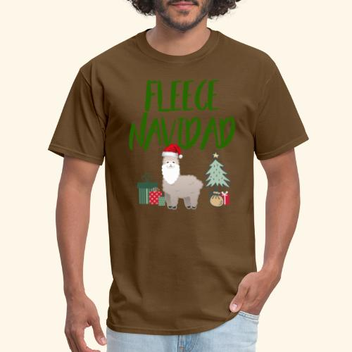 FLEECE Navidad Christmas lama Tee - Men's T-Shirt