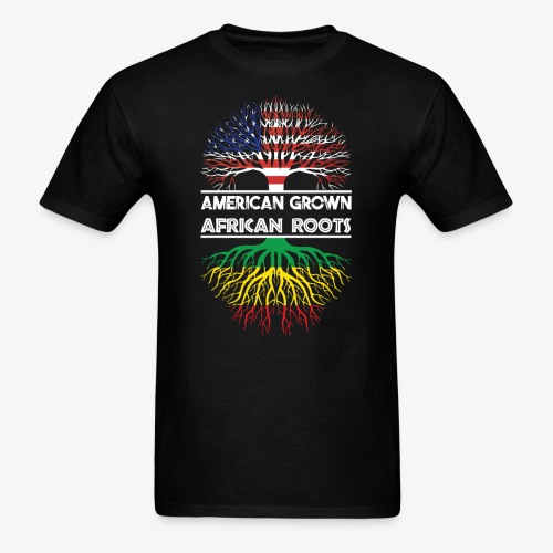 American Grown With African Roots T-Shirt - Men's T-Shirt