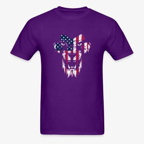 American Flag Lion - Men's T-Shirt