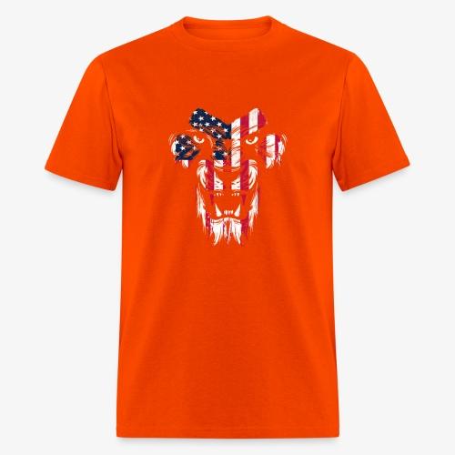 American Flag Lion - Men's T-Shirt