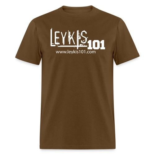 101 White Logo With Domain - Men's T-Shirt