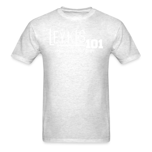 101 White Logo With Domain - Men's T-Shirt