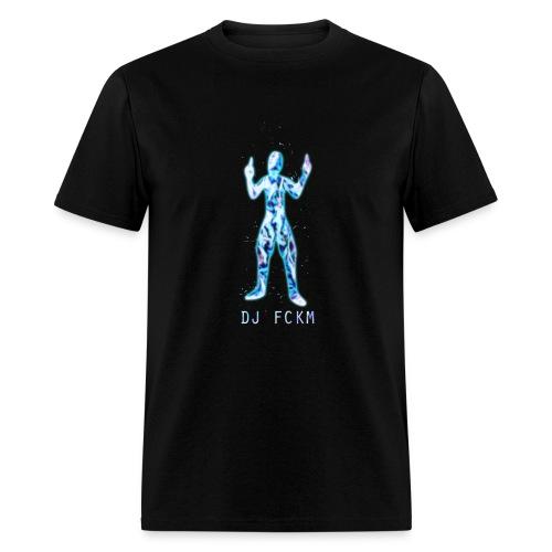 DJ FCKM - Logo Flame Blue - Men's T-Shirt