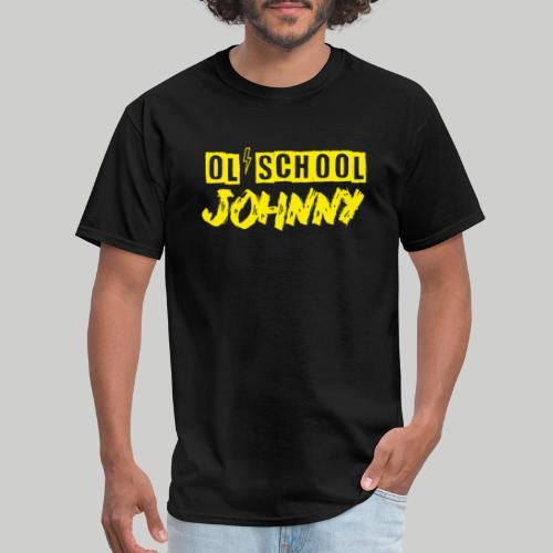 Ol' School Johnny Logo in Yellow - Men's T-Shirt