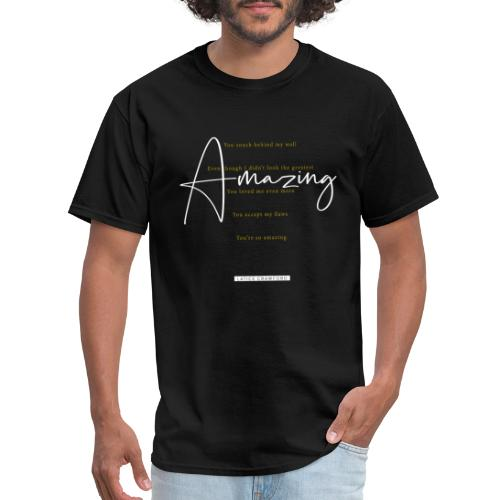 Amazing - White Text - Men's T-Shirt