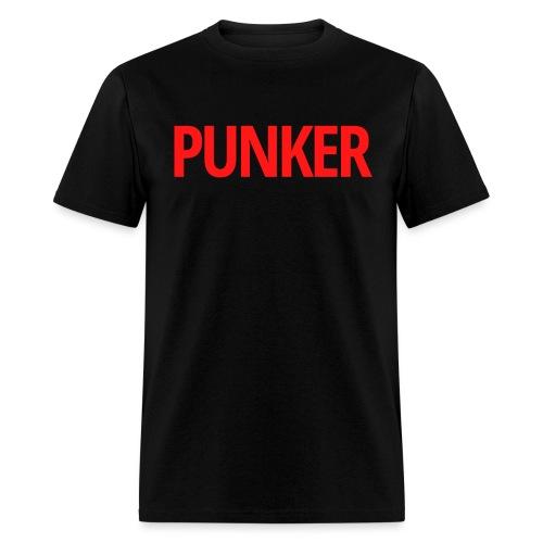 PUNKER (Red Letters Version) - Men's T-Shirt