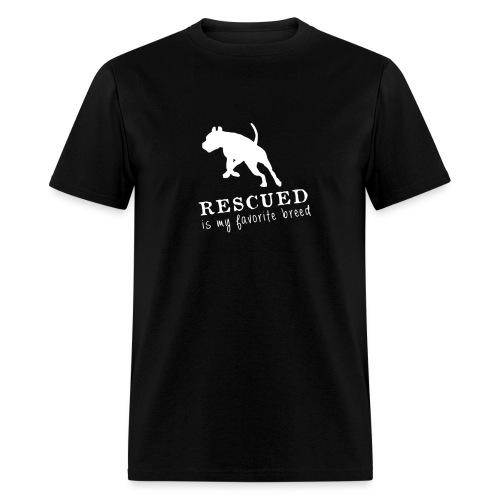 rescued is my fav noir png - Men's T-Shirt