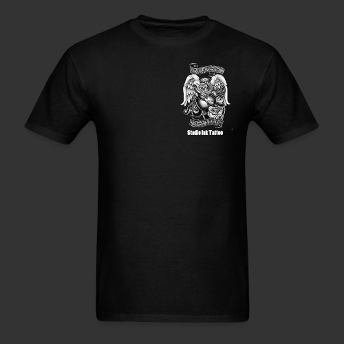 marine t front logo black and white.png T-Shirts - Men's T-Shirt
