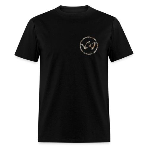 wood camo ls logo - Men's T-Shirt